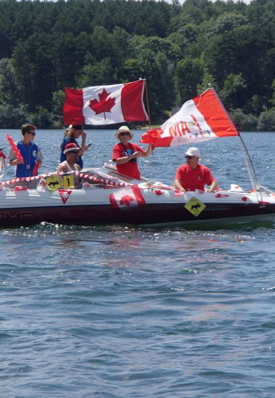 Canada Day Boat